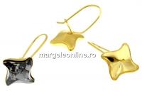 Tortite ag 925 aurit, romb pt Swarovski 4485 de 10.5mm - x1per