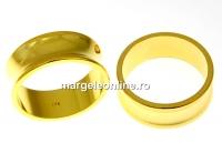 Baza inel suport cristale, argint 925 aurit, interior 15.6mm - x1