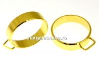 Baza inel cu o bucla, argint 925 aurit, interior 17.5mm - x1
