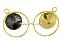 Baza pandantiv pentru rivoli de 10mm, argint 925 aurit - x1