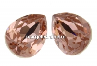 Swarovski, fancy picatura, vintage rose, 10x7mm - x1