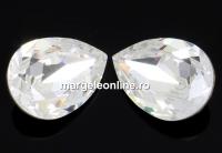 Swarovski, fancy picatura, crystal, 10x7mm - x1