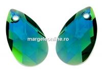 Swarovski, pandantiv picatura, emerald aurore boreale, 16mm - x1