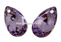 Swarovski, pandantiv picatura, violet comet argent, 16mm - x1