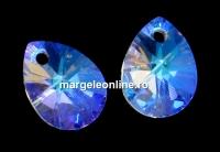 Swarovski, pandantiv picatura, blue aurore boreale, 10mm - x2