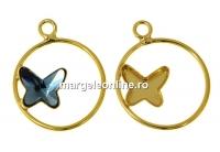 Baza pandantiv ag. 925 pl. cu aur pt fluture Swarovski 8mm, stg - x1