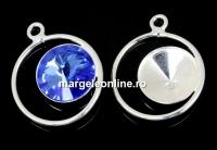 Baza pandantiv argint 925 pt rivoli Swarovski 10mm, dr- x1