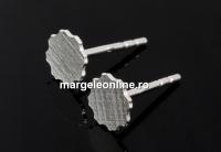 Tortite cercei pt. Swarovski 2610 de 6mm, ag 925, 11.5mm - x1per