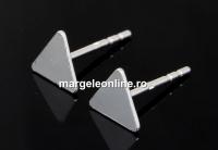 Tortite cercei triunghi, argint 925, 11.5mm - x1per