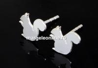 Tortite cercei veverita, argint 925, 11.5mm - x1per