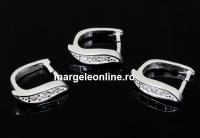 Sistem prindere pandantiv cu cristale, argint 925, 11mm - x1