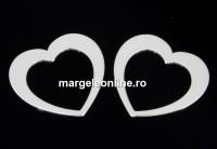 Link inima argint 925, 13.5mm  - x1