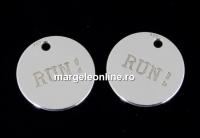 Pandantiv banut Run, argint 925, 11mm  - x1