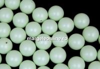 Perle Swarovski cu un orificiu, pastel green, 8mm - x2