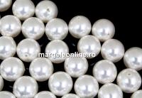 Perle Swarovski cu un orificiu, white, 12mm - x2