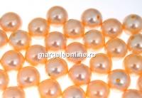 Perle Swarovski cu un orificiu, peach, 12mm - x2