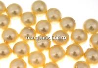 Perle Swarovski cu un orificiu, light gold, 12mm - x2
