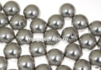 Perle Swarovski cu un orificiu, light grey, 8mm - x2