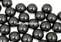 Perle Swarovski cu un orificiu, black, 4mm - x4
