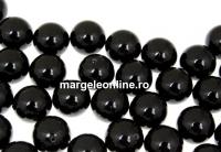 Perle Swarovski cu un orificiu, mystic black, 10mm - x2