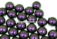 Perle Swarovski cu un orificiu, iridescent purple, 8mm - x2