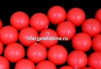 Perle Swarovski cu un orificiu, neon red, 8mm - x2