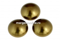 Swarovski, cabochon perla cristal, antique brass, 6mm - x2