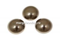 Swarovski, cabochon perla cristal, brown, 10mm - x2