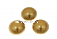Swarovski, cabochon perla cristal, bright gold, 10mm - x2