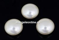 Swarovski, cabochon perla cristal, creamrose light, 10mm - x2