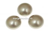 Swarovski, cabochon perla cristal, platinum, 8mm - x2