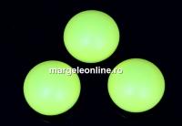 Swarovski, cabochon perla cristal, neon yellow, 6mm - x2