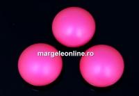 Swarovski, cabochon perla cristal, neon pink, 10mm - x2