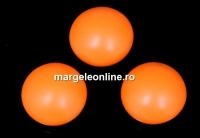 Swarovski, cabochon perla cristal, neon orange, 10mm - x2