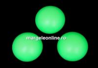 Swarovski, cabochon perla cristal, neon green, 8mm - x2
