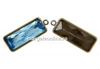 Baza pandantiv bronz pt Swarovski 4547 de 24x8mm - x1
