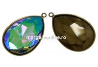 Baza pandantiv bronz pt Swarovski 4327 de 30x20mm - x1