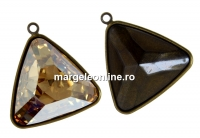 Baza pandantiv bronz pt Swarovski 4727 de 23x23mm - x1
