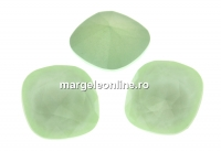 Swarovski, fancy square, powder green, 12mm - x1
