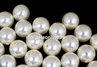 Perle Swarovski cu un orificiu, cream, 6mm - x4