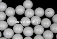 Perle Swarovski cu un orificiu, pastel grey, 6mm - x4
