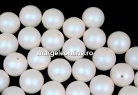Perle Swarovski cu un orificiu, pearlescent white, 6mm - x4