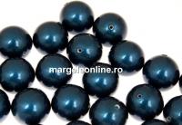 Perle Swarovski cu un orificiu, petrol, 10mm - x2