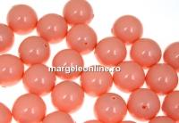 Perle Swarovski cu un orificiu, pink coral, 6mm - x4