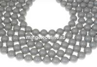 Perle Swarovski, pastel grey, 4mm - x100