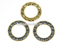Swarovski, disc placat cu aur, light sapphire, 15.5mm - x1
