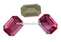 Swarovski, fancy rectangle, rose diamond touch, 14x10mm - x1