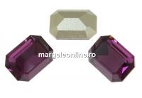 Swarovski, fancy rectangle, amethyst, 14x10mm - x1