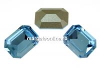 Swarovski, fancy rectangle, aquamarine, 14x10mm - x1