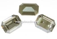 Swarovski, fancy rectangle, silver shade, 14x10mm - x1